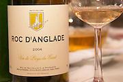 Domaine Roc d'Anglade, Vin de Pays du Gard. Languedoc. France. Europe. Bottle. Wine glass.