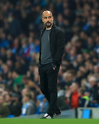 Manchester City manager Pep Guardiola during the Carabao Cup, Fourth Round match at the Etihad Stadium, Manchester.