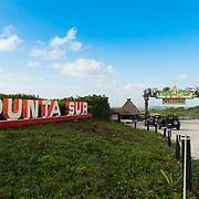 Punta Sur Eco Beach Park Sign In Cozumel, Mexico