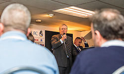 Bristol Rovers Steve Hamer speaks to guests Bristol Rovers Manager Darrell Clarke chats to guests at the Sponsors Draw - Mandatory by-line: Robbie Stephenson/JMP - 15/04/2016 - FOOTBALL - The Memorial Ground - Bristol, England -  v  - Bristol Rovers Sponsor Draw