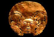 PERU, PRECOLUMBIAN, GOLD Mochica; gold breastplate (pectoral)