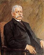 Max Liebermann (1847–1935) German painter. 1927 portrait of Paul von Hindenburg 1847-1934, Field marshal during World War One and second president of the Weimar Republic (1925-34)