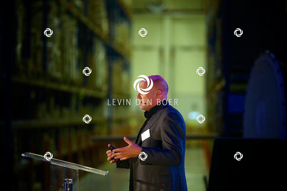 ZALTBOMMEL - De 'Grand Opening EDC Zaltbommel' in het Hitachi Centre. Met op de foto André Kuipers (Physician & ESA Astronaut). FOTO LEVIN DEN BOER - PERSFOTO.NU