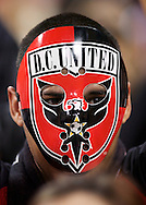 A D.C. United fan during his team's 2-0 loss to the visiting San Jose Earthquakes at RFK Stadium in Washington D.C.