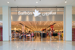 Saffron Chinese clothes shop inside Dragon Mart 2 the new Chinese shopping Mall in Dubai , United Arab Emirates