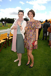 Left to right, actress TALULAH RILEY and HOLLY DAVIDSON at the final of the Veuve Clicquot Gold Cup 2007 at Cowdray Park, West Sussex on 22nd July 2007.<br /><br />NON EXCLUSIVE - WORLD RIGHTS
