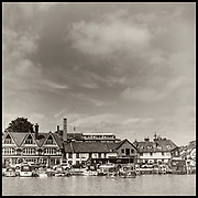 Henley-On-Thames, Berkshire, UK., Thursday, General View Henley Town Skyline,  Henley Brewery,  and waterfront pubs and retail shops, offices and Private Houses, 03/06/2021, across Henley Reach, towards the Oxfordshire side and Henley Town, [ Mandatory Credit © Peter Spurrier/Intersport Images],