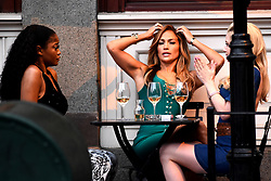April 25, 2019 - New York, NY, USA - April 25, 2019 New York City..Jennifer Lopez was seen on location filming 'Hustlers' on April 25, 2019 in New York City. (Credit Image: © Kristin Callahan/Ace Pictures via ZUMA Press)