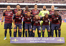 July 19, 2017 - Philadelphia, PA, USA - Philadelphia, PA - Wednesday July 19, 2017: USMNT starting eleven during a 2017 Gold Cup match between the men's national teams of the United States (USA) and El Salvador (SLV) at Lincoln Financial Field. (Credit Image: © John Dorton/ISIPhotos via ZUMA Wire)