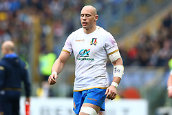 March 17, 2018 - Rome, Italy - Rugby NatWest 6 Nations: Italy v Scotland..The disappointment of Sergio Parisse of Italy at Olimpico Stadium in Rome, Italy on March 17, 2017. (Credit Image: © Matteo Ciambelli/NurPhoto via ZUMA Press)