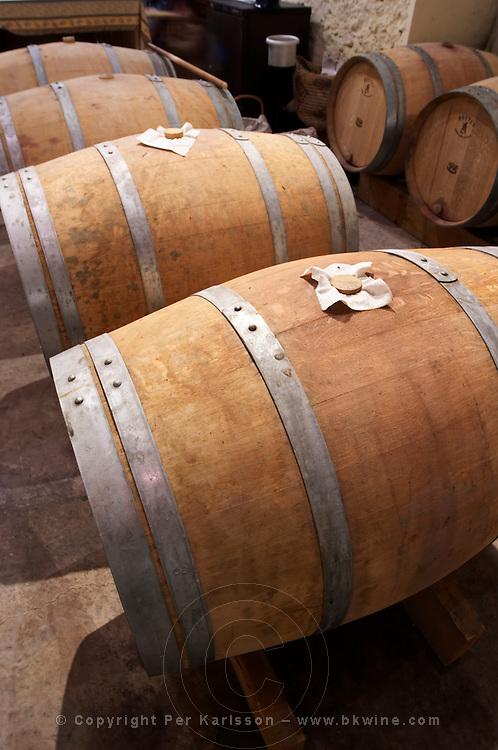 Domaine Le Nouveau Monde. Terrasses de Beziers. Languedoc. Barrel cellar. France. Europe.