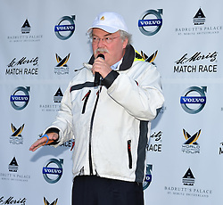 Hans Wiedemann, General Manager Badrutt's Palace Hotel at the opening ceremony for the St.Moritz Match  Race. Photo:Chris Davies/WMRT