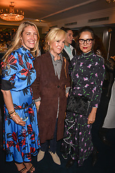 Left to right, Georgina Cohen, Sally Greene and Suzy Murphy at the third annual Fortnum's x Frank exhibition at Fortnum & Mason, 181 Piccadilly, London, UK on September 12, 2018.<br /> 12 September 2018.