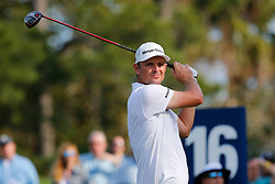 March 14, 2019 - Ponte Vedra Beach, FL, U.S. - PONTE VEDRA BEACH, FL - MARCH 14: Justin Rose of England hits a tee shot on the 16th hole during the first round of THE PLAYERS Championship on March 14, 2019 on the Stadium Course at TPC Sawgrass in Ponte Vedra Beach, Fl. (Photo by David Rosenblum/Icon Sportswire) (Credit Image: © David Rosenblum/Icon SMI via ZUMA Press)
