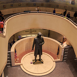 The William Penn Statue at the Pennsylvania State Museum in Harrisburg.