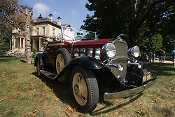 06 Aug 2011:  A 1932 Chevrolet Cabrolet owned by John and Jeanette Tornquist at the 15th Annual McLean County Car Association Antique Car show at David Davis Mansion, Bloomington Illinois