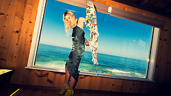 Model Sydney Roper. <br /> Fashion Editorial Sydney's Sizzling Summer.<br /> Stylist Jennifer O'Bannon, Makeup Hair Heather Wilson.<br /> Photographed at the Laguna Riviera Resort on the Beach Laguna Beach California. <br /> Photographer Amyn Nasser<br /> Published Fashion Editorial Paris France.