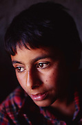 The portrait of a boy in a house in Basra, Iraq