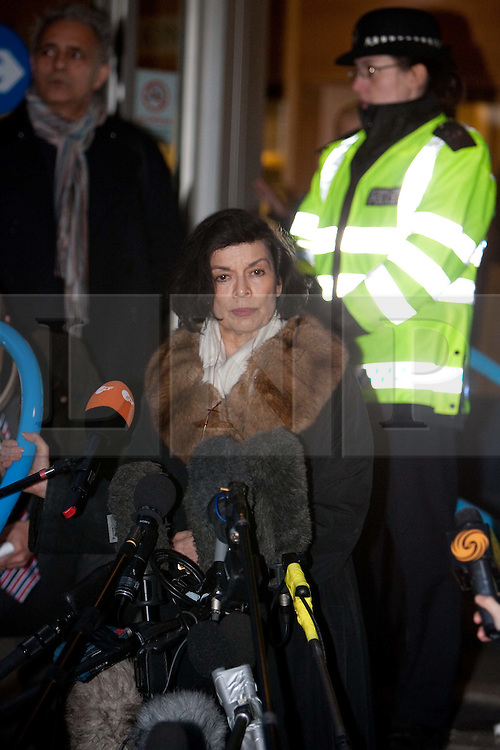 ©London News Picures. .Bianca Jagger leaves the City of Westminster Magistrates Court on December 14, 2010 where Julian Assanged attended an extradition hearing.Photo credit should read Fuat Akyuz/London News Pictures.