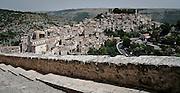 Ragusa Ibla vista dalla scalinata di via XXIV maggio..Ragusa Ibla viewed from the steps of XXIV May street in Ragusa.