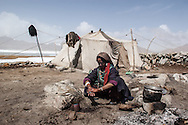 A nomad woman on Ladakh's Changtang plateau