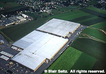 Lancaster Co. aerial photographs, corporate development on farmland Aerial Photograph Pennsylvania