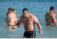 3 June 2013; Cian Healy, British & Irish Lions, during a recovery session ahead of their game against Western Force on Wednesday. British & Irish Lions Tour 2013, Recovery Session, City Beach, Perth, Australia. Picture credit: Stephen McCarthy / SPORTSFILE