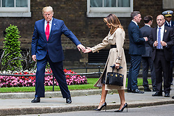 London, UK. 4 June, 2019. US President Donald Trump and First Lady Melania Trump arrive in Downing Street to meet Prime Minister Theresa May on the second day of his state visit to the UK.
