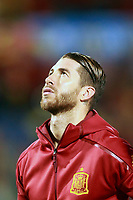 Spain's Sergio Ramos during FIFA World Cup 2018 Qualifying Round match. October 6,2017.(ALTERPHOTOS/Acero)