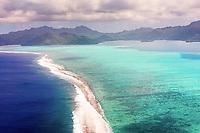 Aerial view of Taha'a, Leeward Islands, French Polynesia