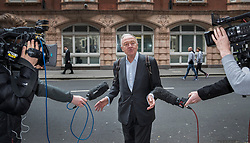© Licensed to London News Pictures. 31/03/2017. London, UK. Former Mayor of London Ken Livingstone is surrounded by cameras as he arrives at Church House for the second day of a Labour Party disciplinary hearing hearing. Mr Livingstone has been accused of anti-Semitism after comments he made in April 2016 claiming that Hitler supported Zionism in the 1930's. Photo credit: Peter Macdiarmid/LNP
