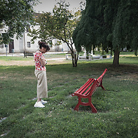 """Renza Volpini had two red benches put in memory of her daughter in two villages in the province of Cremona. """"I hope that whoever sees the bench will ask themselves questions, if only for an instant, about gender-based violence. I hope that some woman who found herself in a difficult situation, when she reads the plaque that is dedicated to my daughter, will find a way and the incentive to react. I see how young girls are at risk. At 13, 14, 15 years old, they have boyfriends that are already jealous, who control the way they dress and decide who they should go around with. And it seems that the girls, instead of rebelling, are flattered."""""""
