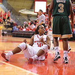 Jan 31, 2009; Piscataway, NJ, USA; Rutgers guard Epiphanny Prince (10) reacts to a foul called against a South Florida defender after Prince scored a basket late in the second half of South Florida's 59-56 victory over Rutgers in NCAA women's college basketball at the Louis Brown Athletic Center