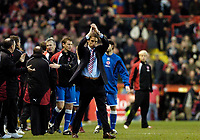 Photo: Leigh Quinnell.<br /> Bristol City v Middlesbrough. The FA Cup. 27/01/2007.<br /> An unhappy Gareth Southgate thanks the Boro fans at the end of the game.
