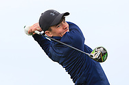 Liam Abom (Edmondstown) on the 1st tee during Round 2 of the Connacht U16 Boys Amateur Open Championship at Galway Bay Golf Club, Oranmore, Galway on Wednesday 17th April 2019.<br /> Picture:  Thos Caffrey / www.golffile.ie