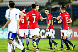 October 5, 2017 - San Marino, SAN MARINO - 171005 Mohamed Elyounoussi of Norway celebrates 4-0 during the FIFA World Cup Qualifier match between San Marino and Norway on October 5, 2017 in San Marino. .Photo: Fredrik Varfjell / BILDBYRN / kod FV / 150027 (Credit Image: © Fredrik Varfjell/Bildbyran via ZUMA Wire)