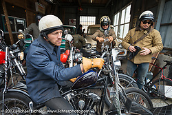 Cycle Zombies Chase Stopnik on the Blue Groove shop ride from Kamakura to Miura Penninsula. Japan. Monday December 4, 2017. Photography ©2017 Michael Lichter.