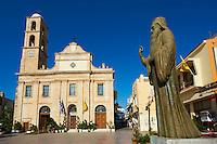 Grece, Crete, Chania (La canée), Place Patriarche Athinagora, cathedrale Orthodoxe // Greece, Crete island, Chania, orthodox cathedral