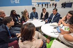 9 December 2019, Madrid, Spain: Salvador Ernesto Nieto from the Comisión Centroamericana de Ambiente y Desarrollo meets with delegates from the Lutheran World Federation.