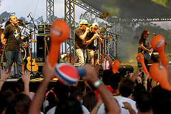 Show da banda Dazaranha no palco Pretinho Convida no Planeta Atlântida 2013/SC, que acontece nos dias 11 e 12 de janeiro no Sapiens Parque, em Florianópolis. FOTO: Marcos Nagelstein/Preview.com
