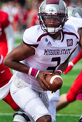 NORMAL, IL - October 02: Jason Shelley during a college football game between the Bears of Missouri State and the ISU (Illinois State University) Redbirds on October 02 2021 at Hancock Stadium in Normal, IL. (Photo by Alan Look)