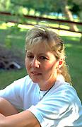 Woman age 49 waiting.  Clitherall  Minnesota USA