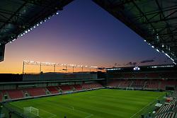 TRNAVA, SLOVAKIA - Thursday, October 10, 2019: A general view of the Štadión Antona Malatinského before the UEFA Euro 2020 Qualifying Group E match between Slovakia and Wales. (Pic by David Rawcliffe/Propaganda)