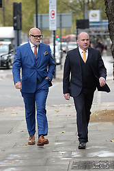 The Duchess of Cambridge's uncle, Gary Goldsmith (left), arrives at Westminster Magistrates' Court, London, where he is accused of assault by beating of Julie-Ann Goldsmith, his wife, outside their home in London.