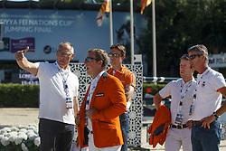 Ehrens Rob, Schroder Gerco,Van Asten Leopold, Van der Vleuten Maikel, Van der Vleuten Eric <br /> First Round<br /> Furusiyya FEI Nations Cup Jumping Final - Barcelona 2015<br /> © Dirk Caremans<br /> 24/09/15
