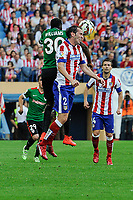 Atletico de Madrid´s Diego Godin and Athletic Club´s Inaki Williams during 2014-15 La Liga match between Atletico de Madrid and Athletic Club at Vicente Calderon stadium in Madrid, Spain. May 02, 2015. (ALTERPHOTOS/Luis Fernandez)