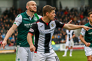 Cammy Smith of St Mirren & David Gray of Hibernian FC shouting instructions during the Ladbrokes Scottish Premiership match between St Mirren and Hibernian at the Simple Digital Arena, Paisley, Scotland on 29th September 2018.