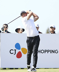 Oct 21, 2018 - Jeju, South Korea - BROOKS KOEPKA of USA action on the 9th tee during the PGA Golf CJ CUP Nine Bridges at Nine Bridges Golf Club. (Credit Image: © JNA via ZUMA Wire)