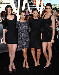 """Kourtney Kardashian and Kim Kardashian attend the premiere of """"The Twilight Saga: Eclipse"""" part of the 2010 Los Angeles Film Festival. Los Angeles, June 24, 2010. (Pictured : Kourtney Kardashian, Kim Kardashian). Photo by Lionel Hahn/ABACAPRESS.COM""  | 235865_097"