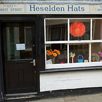 Hats shop in Faversham, East Sussex, England